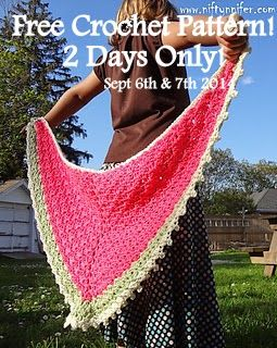 Free Crochet Pattern ~ Two Days Only! September 6th & 7th 2014