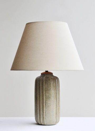 Enamelled Ceramic Table Lamp by Arne Bang