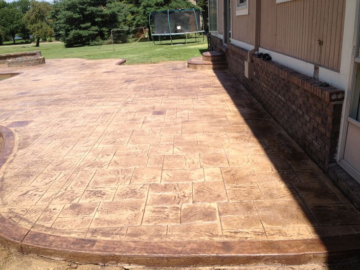 7 best stamped concrete patios images on pinterest stamped