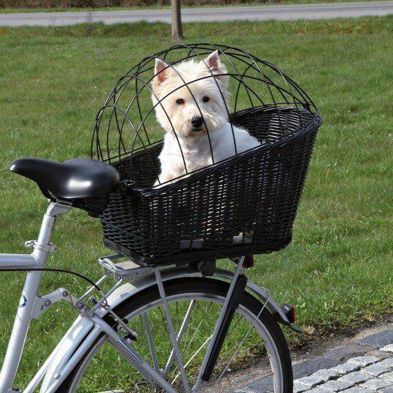 Panier vélo avec grille pour porte bagage_1