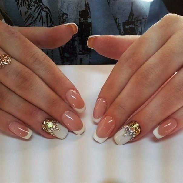 Beautiful nails, Expensive nails, Exquisite nails, Nails with gold, Nails with…