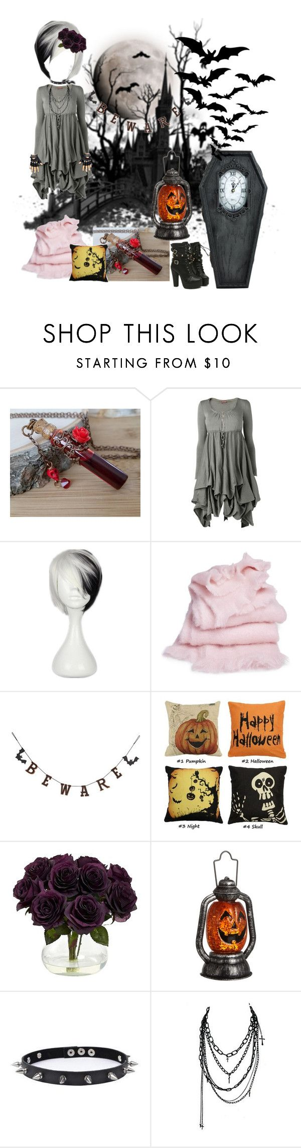 """Don't Wake Me till Halloween"" by rilakkuma394 ❤ liked on Polyvore featuring Phase Eight, abcDNA, Creative Co-op, Nearly Natural, John Lewis, Trend Cool and Bakers"