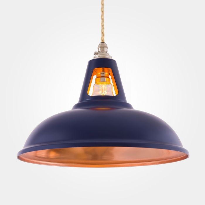 Coolicon Industrial Pendant Light Fusion Matt Blue Copper
