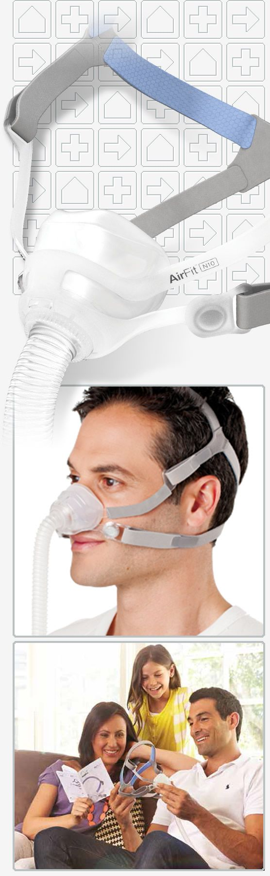 AirFit™ N10 Nasal CPAP Mask with Headgear Cpap, Cpap