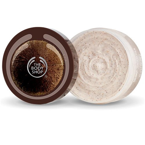 Natural Vegan Coconut Oil Exfoliating Body Scrub | The Body Shop | The Body Shop ® - smells great, conditions skin, fine scrubbing
