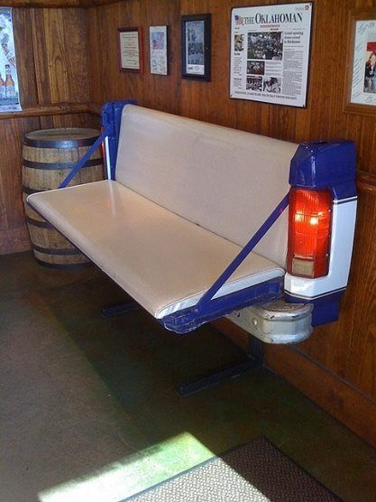 Awesome tailgate wall bench!