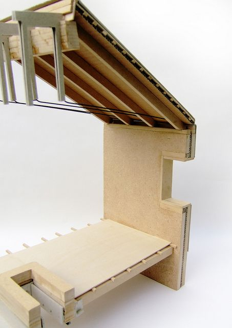 Architectural detail model by Positive_Tension, via Flickr