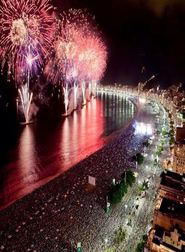 Reveillon nas areias de Copacabana - Rio de Janeiro