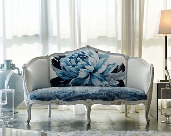 The gorgeous French Cabriole/Cabriolet sofa was popularized by Louis XV in the first half of the 1700's. Cabriolet (where our term cab ...