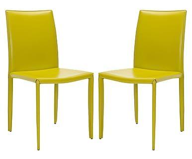 Набор из 2 стульев - железо - лайм, 48х57х91 см