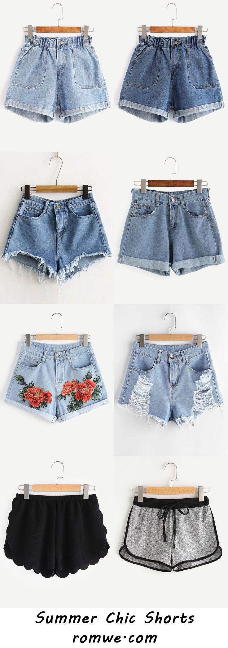 summer chic shorts 2017 - romwe.com