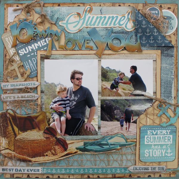Every Summer has a Story - single page Designed by Carol Barron
