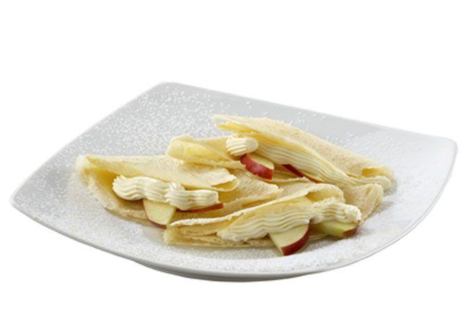 ¿No se te antojan unas deliciosas crepas de manzana para el desayuno o qué tal de postre