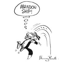 "Dog ""Abandon Ship"""