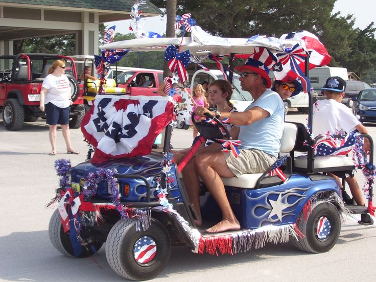 memorial day golf cart decorations
