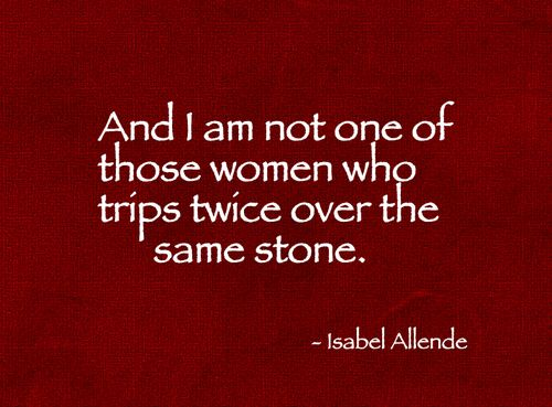 Isabel Allende...exactly.
