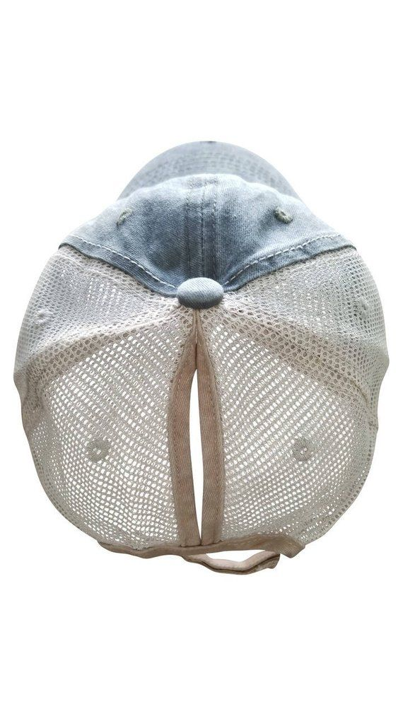 d463756f5a6 Pineapple Distressed Top Knot Hat - Pony Tail Hat - Messy Bun Hat ...