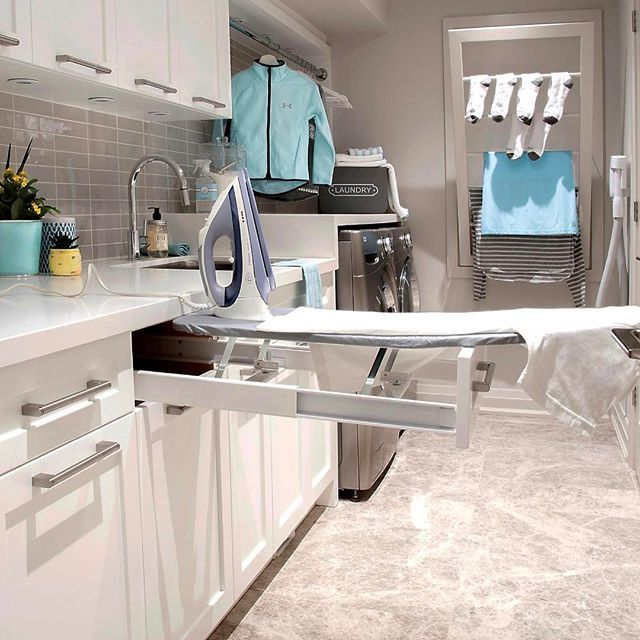 Wow!! Talk about creative laundry room solutions! By Diana Bastone Designs