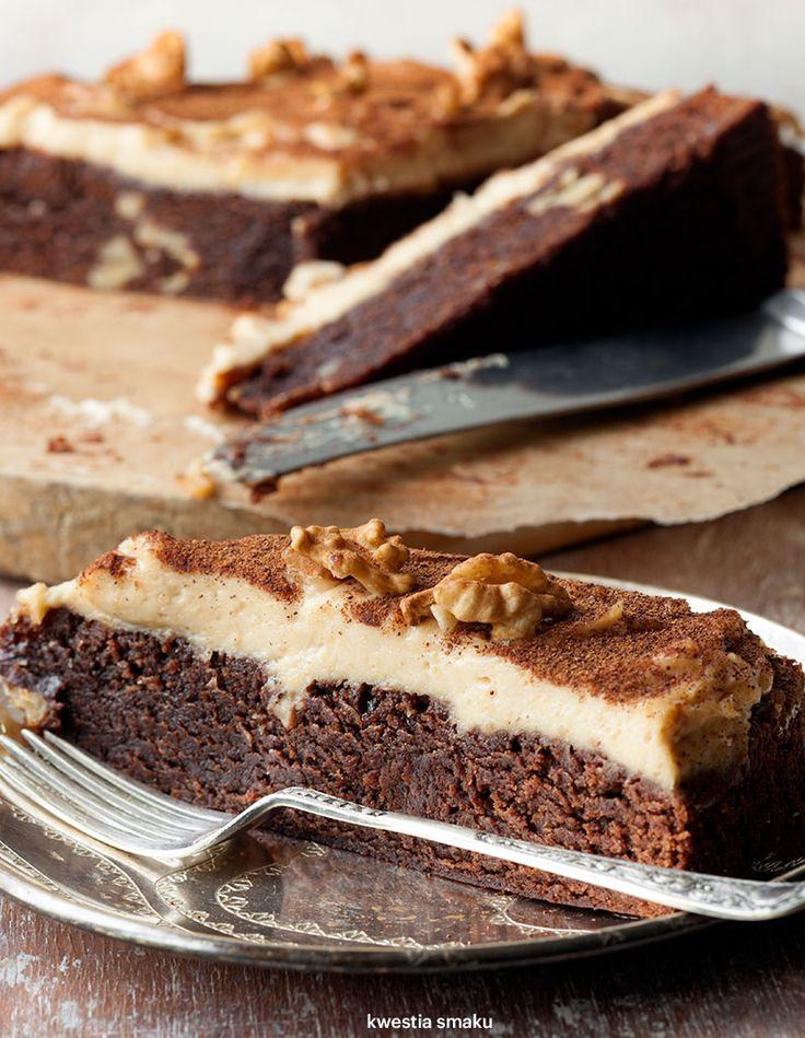 Brownie z kremem orzechowym