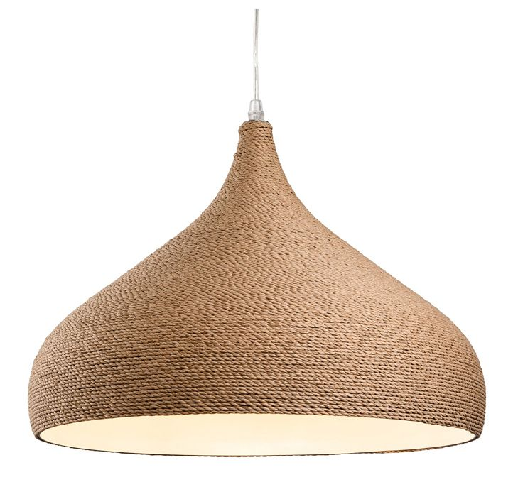 Firstlight 'Coast' Single Light Ceiling Teardrop Pendant in Brown Rope Finish - 3441 None