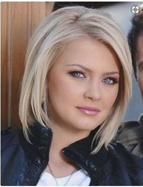 hairstyles for double chins Short Hairstyles for Round Faces with ...