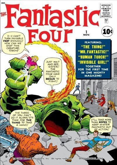 FANTASTIC FOUR #1 • 1961 • The Fantastic Four • Stan Lee, Jack Kirby • Jack Kirby
