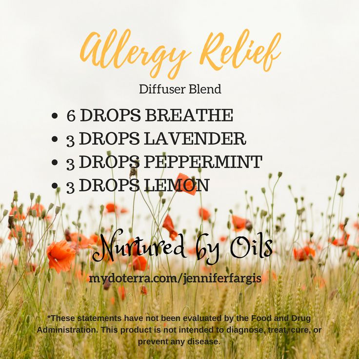 Essential Oils For Allergy Relief Diffuser Blend