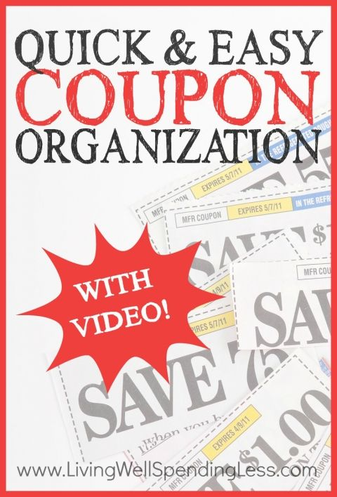 Quick & Easy Coupon Organization Vertical