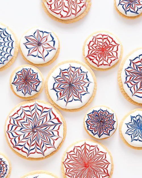 Fireworks Cookies - Martha Stewart Recipes: July4Th, Desserts, Sugar Cookies, Fireworks Cookies, Food, 4Th Of July, Cookies Recipe, Martha Stewart, July 4Th