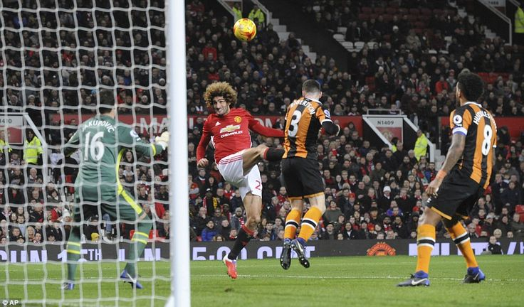 Substitute Marouane Fellaini scored United's second with three minutes remaining as the hosts take a 2-0 lead to Hull