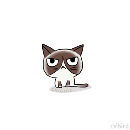 This is a very silly animation about grumpy cat. -shrug- >3<
