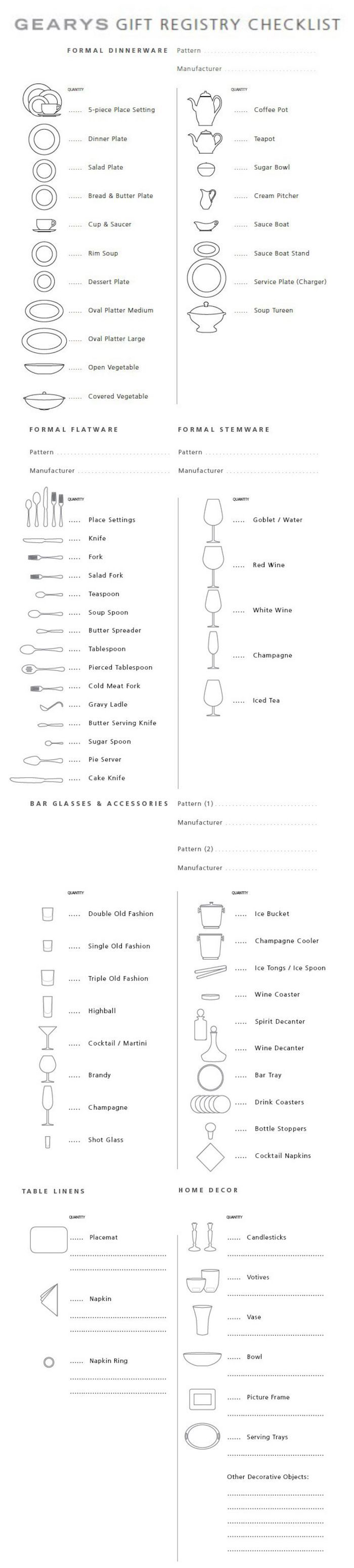 The 25 best gift registry ideas on pinterest wedding gift the ultimate checklist for your wedding registry junglespirit Images