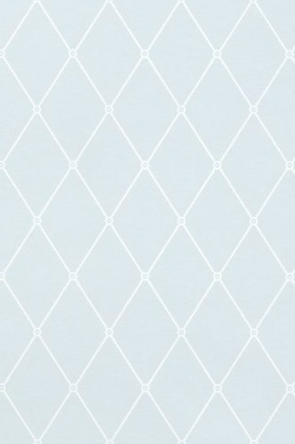 geometric wallpaper blue and white T4174