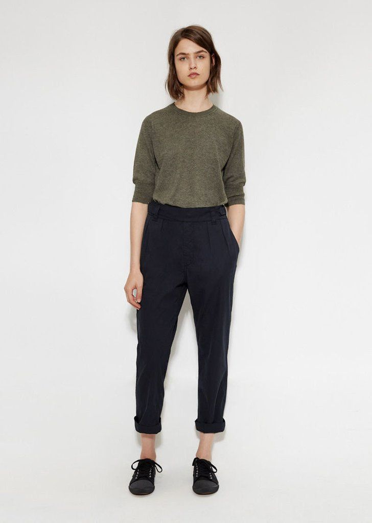 Shop Cinched Crop Trouser from MHL By Margaret Howell at La GarÁonne. La GarÁonne offers curated designer goods from luxury and emerging designers.