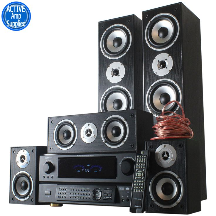 Hi Fi System: 870W 5 Speaker Surround Sound System and DSP Amplifier