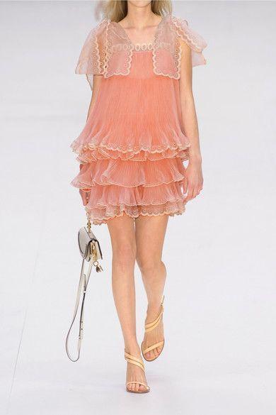 Peach silk-organza Concealed zip fastening along side 100% silk; trim: 80% silk, 20% cotton; lining: 100% silk Dry clean Designer color: Misty Beige Made in France