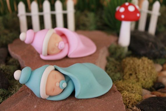 Polymer Clay Sleeping Baby Polymer Clay Baby Baby by GnomeWoods