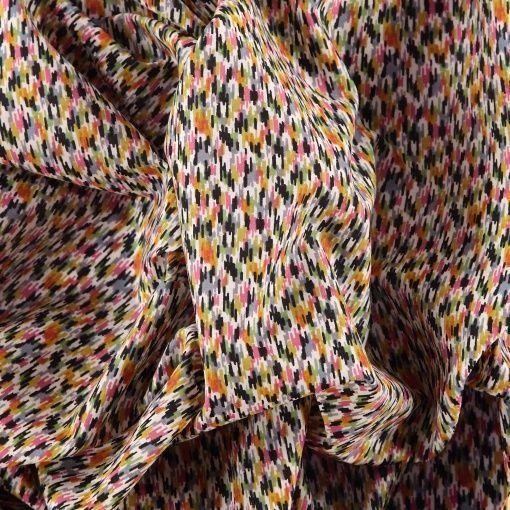 Silke natur med konfetti print
