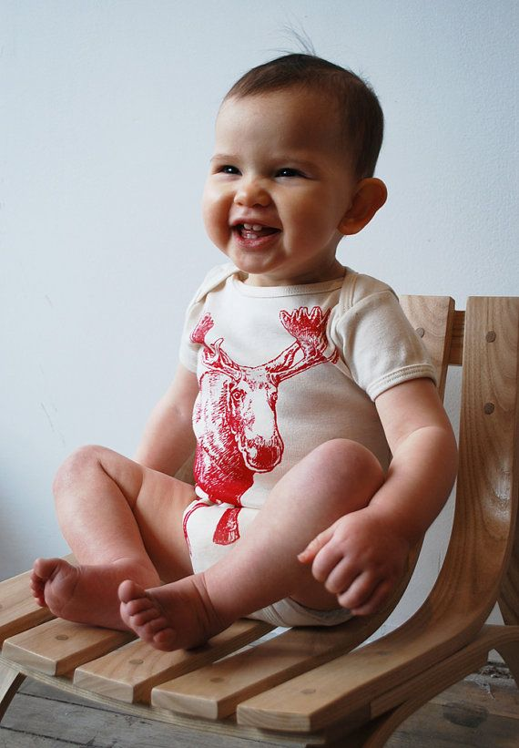 Bookhou Onesie-- Moose. One of my favourite baby shower gifts to give-- the entire line is adorable.