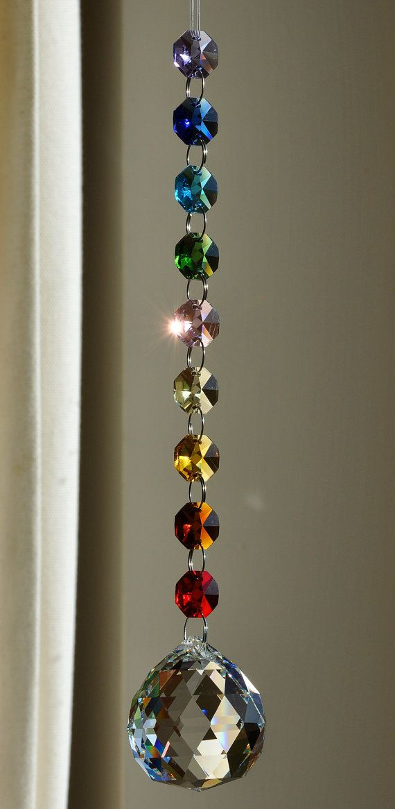40 mm Crystal Sphere Suncatcher Rainbow Feng Shui Chakra Window Deco Meditation