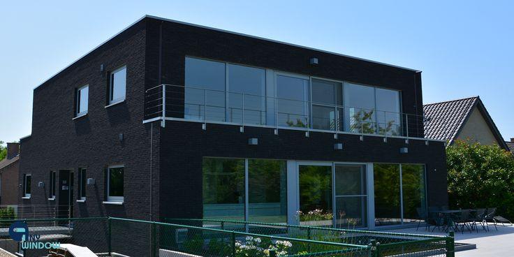 Reynaers Aluminium ramen CS77-Hi - Laag energie woning met 3 dubbel glas Sint-Martens-Bodegem - Any window ramen en deuren anywindow.be