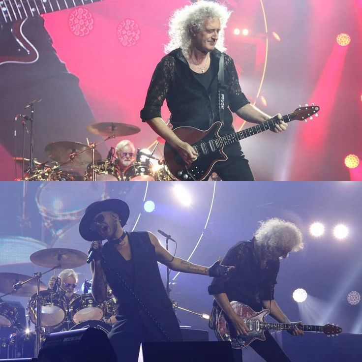 @tubehk Queen last night playing their first HK concert with Adam Lambert! more photos shot by Leslie coming up today! 尋晚 Queen 同 Adam Lambert 首次來港演出!睇住兩張 Leslie 尋晚影既相先,今日會繼續post架 #QAL #QueenHK2016 #QueenAdamLambert #QueenAdamLambertTour