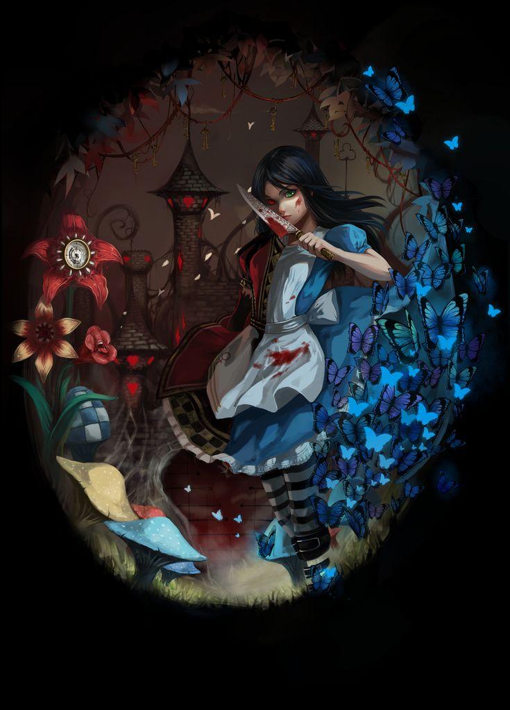 Girl In Gown Wallpaper Alice American Mcgee S 1685140 Zerochan Murals In
