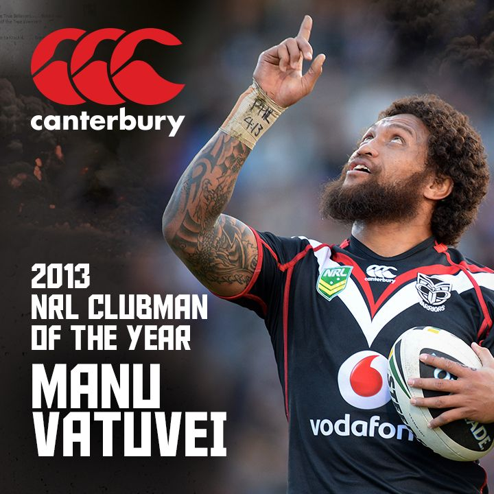 Congratulations to 2013 Canterbury NRL Clubman of the Year Manu Vatuvei