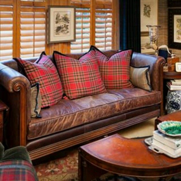Plaid Furniture Country Living Room: Mary Carol Garrity & Plaid!