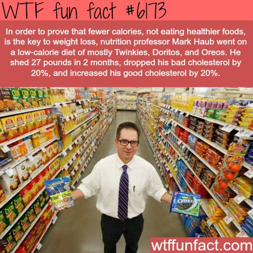 The key to losing weight - WTF fun facts