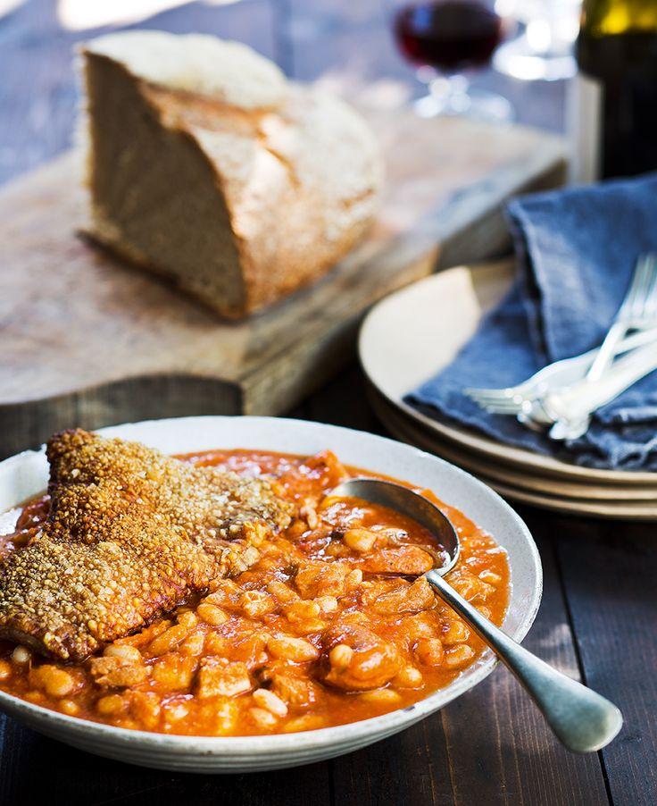 Pork belly and chorizo hotpot with crackling | Thermomix | #inthemixcookbook | @Joanna Szewczyk Gierak Whitton @Dani Valent
