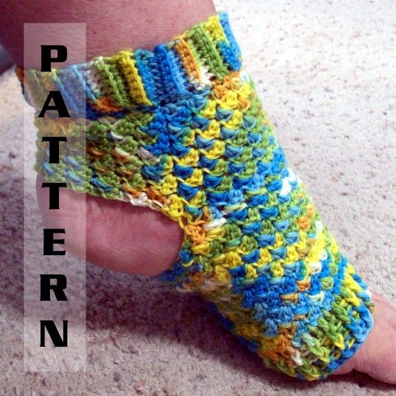 Yoga Socks Ballet Pilates Dance Foot Pedicure Flip Flop - Crochet Pattern 501 INSTANT DOWNLOAD