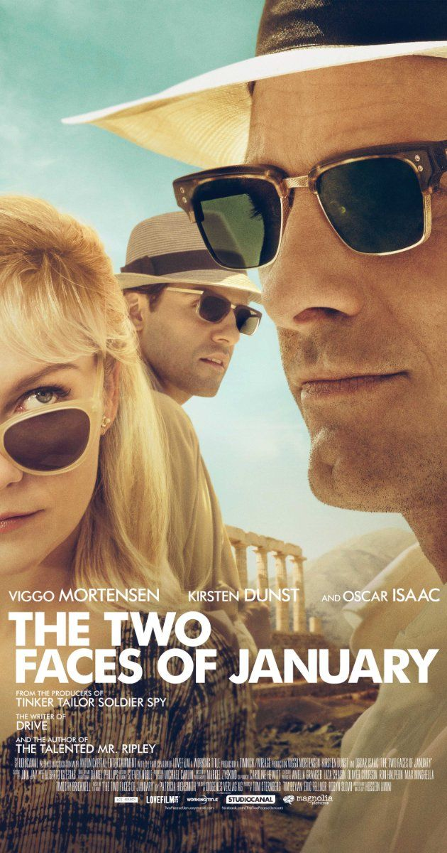 Directed by Hossein Amini.  With Viggo Mortensen, Kirsten Dunst, Oscar Isaac, Daisy Bevan. A thriller centered on a con artist, his wife, and a stranger who flee Athens after one of them is caught up in the death of a private detective.