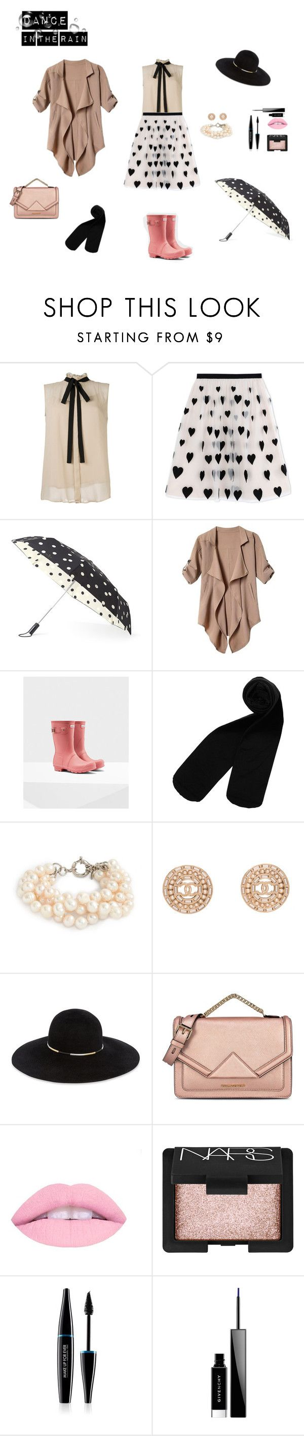 """Dance In The Rain"" by nikyx on Polyvore featuring Alice + Olivia, Kate Spade, Monki, J.Crew, Chanel, Eugenia Kim, Karl Lagerfeld, NARS Cosmetics, MAKE UP FOR EVER and Givenchy"